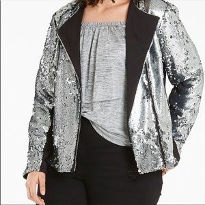 Jackets & Blazers - Silver sequin jacket